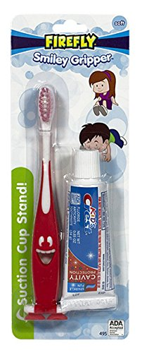 Firefly Toothbrush Smiley Gripper With Toothpaste (3 Pack)