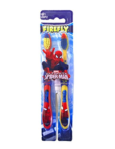 Marvel Ultimate Spider-Man Fire Fly Soft Toothbrush for Kids - 2 Count (Spider-Man)