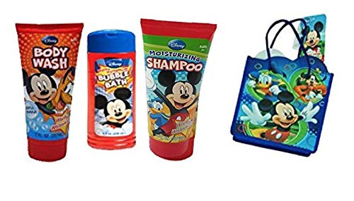 Mickey Mouse Clubhouse Kids Bath Time Gift Set! Plus Bonus Resuable Mickey & Friends Mini Tote Gift Bag!