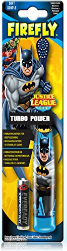 Justice League Inspired 3pc Oral Care Bundle Batman Powered Toothbrush, Crest Kids Cavity Protection Sparkle Toothpaste & Rinse Cup Plus Bonus