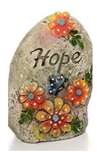 Inspirational Outdoor Garden Decor Message Stone: Hope
