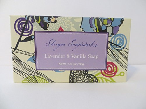 Shugar Soapworks Lavender Vanilla and Oatmeal Verbena Scents Natural Soaps 2 Pack