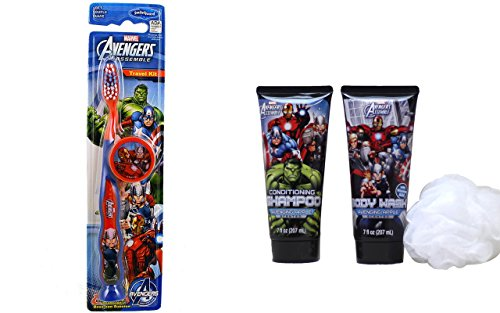 Marvel Bath Set Body Wash, Shampoo, Thor Toothbrush (Thor)