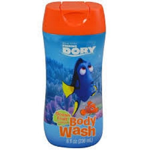 Dory & Pals Body Wash, Bubble Bath, Magical Wash Cloth and Q-tips Bundle