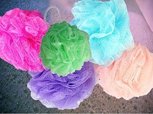 April Bath & Shower Small Mesh Bath Sponges - 5 Count Tub