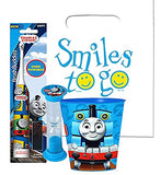 Thomas the Train Inspired 3pc Bright Smile Oral Hygiene Bundle! Thomas & Friends Turbo Toothbrush, Timer & Rinse Cup! Plus Bonus Tooth Necklace