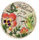 Concrete Decorative Stepping stone for Garden with Saying (hummingbird)