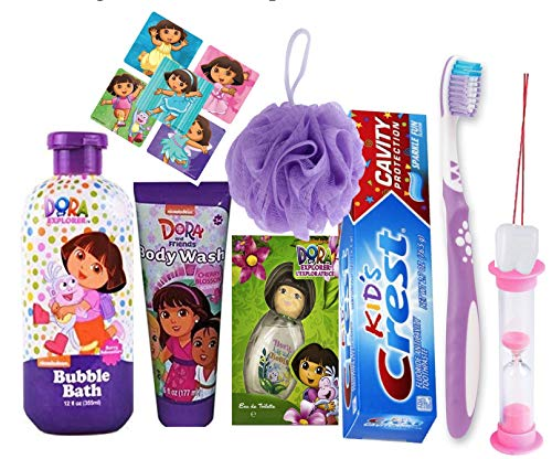 Bundle Gift set: Nickelodeon Dora the Explorer Bubble Bath and oral Hygiene Care Set