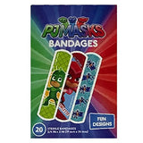 PJ Masks Bandages 40 Fun Bandaids 2 Packs 3/4 inch x 3inch