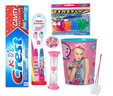 Jojo Siwa Just Dance Inspired Girl's Oral Hygiene 5pcs Bundle! Toothpaste, 2pk Soft Manual Toothbrush, Flossers & Cup! Plus Bonus Tooth Necklace!