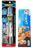 Kids Star Wars Rey Toothbrush Bundle: 2 Items - Lightsaber Light-Up Timer Toothbrush, Minty Breeze Fluoride Toothpaste
