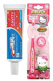 Hello Kitty Toothbrush Keychain, and Crest Kids Flavored Toothpaste