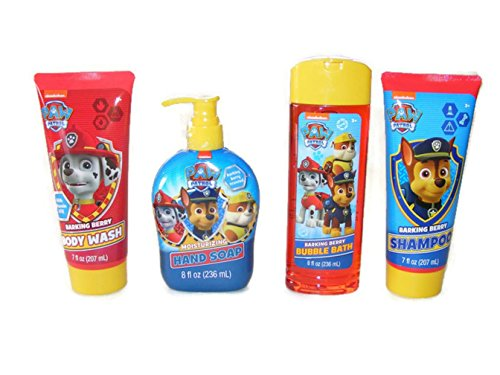 Paw Patrol Bath Collection (Shampoo, Body Wash, Bubble Bath, Hand Soap)