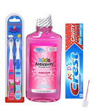 Peppa Pig Kids Oral care Set 3pk bundle. Toothbrush, Mouthwash, and Toothpaste