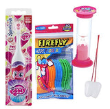 My Little Pony Pinkie Pie 2pcs Bright Smile Oral Set! Turbo Spin Toothbrush & Flossers! Plus Bonus Timer, stickers Plus Bonus Tooth Necklace!