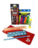 Bundle - 6 Items: Star Wars Toothbrushes, Flossers, Timer, Holder, Pouch, Pencil, Stickers, Erasers, Easter Basket Stuffer, Tooth Fairy Gift