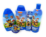 Paw Patrol Bath Set for Kids 5pc set- Bubble Bath, Body Wash,, 2-in-1 Shampoo Conditioner & Magic Towel Tablets