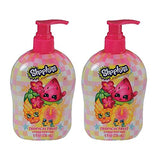 Bundle of 2 Shopkins 8 oz Tropical Fruit Schented Germ Fighting Hand Soap