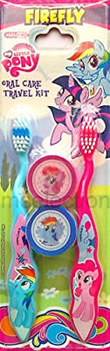 My Little Pony Toothbrush Set include 1 Lipgloss Wand & 1 Comb, and Bandaids