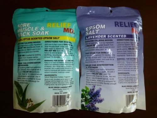 Relief MD Epsom Salt: Lavender and Eucalyptus Scented(Bundle of 2)