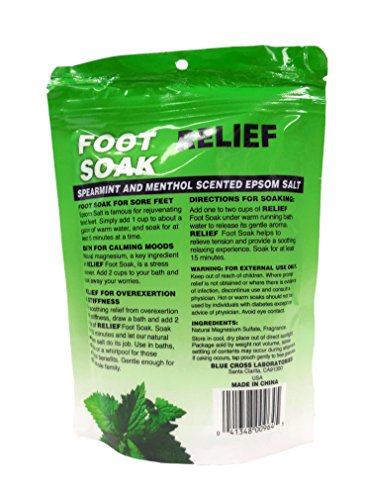 Relief MD 16-Ounce Foot Soak 2-Pack - Spearmint and Menthol Epsom Salt