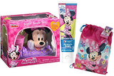 Disney Jr. Minnie Mouse Inspired 4pc Sparkling Smile Oral Hygiene Gift Set Includes Toothbrush Holder, Toothbrush, Toothpaste & Rinse Cup Plus Bonus