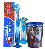 Elsa 4pc Bright Smile Hygiene Set! Light Up Toothbrush, Toothpaste, Timer & Rinse Cup! Plus Tooth Necklace! (Frozen-Elsa)