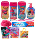 Ultimate Trolls Bath and Oral Hygiene Collection Set include 10pcs bundle in a reusable gift bag