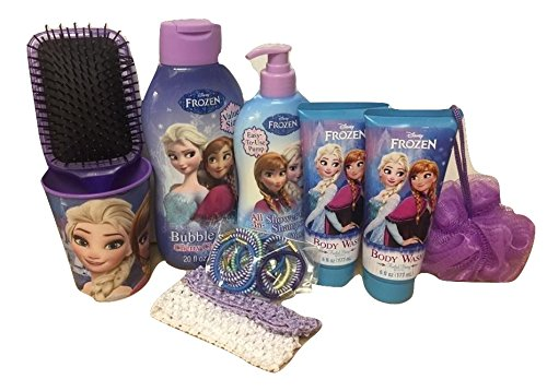 Disney Frozen Children's Bath & Body Gift Set 9+ piece Bubble Bath, Shampoo, Body wash and more