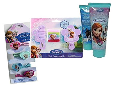 Disney Frozen Girls Essential 12. Pc Hair Accessory Set! Featuring Elsa, Anna & Olaf!