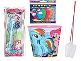 My Little Pony Inspired 3pcs Bright Smile Hygiene Set! 2pk Toothbrush with cap and Rinse Cup Plus Bonus Tooth Necklace!