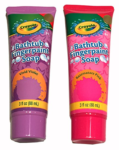 Girls Tub Toy Two Piece Finger Paint Soap Set for Bathtub Play Pink/Purple