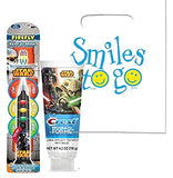 Exclusive Star Wars Darth Vader Firefly Light Up Timer Toothbrush! Plus Star Wars Crest ProHealh Jr. Toothpaste