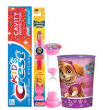 "Paw Patrol ""Skye"" Inspired 4pc Bright Smile Hygiene Set Flashing Lights Toothbrush, Toothpaste, Brushing Timer & Rinse Cup Plus Bonus Tooth Necklace"