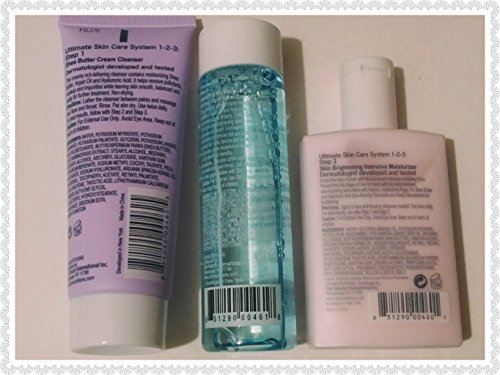SKINnutritions for healthy skin, 1-2-3- Ultimate Skin System (1 facial soap + 1 clarifying lotion + 1 youth-perfecting-intensive-moisturizer), 3 pcs