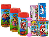 "Super Mario Brothers Girls ""Princess Peach"" All Inclusive Bath Time Stocking Stuffer Set! Body Wash, Shampoo, Bubble Bath, Toothbrush, Toothpaste, Brushing Timer & Mouthwash Rinse Cup!"
