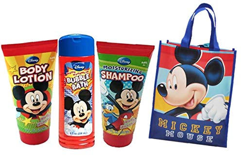 Mickey Mouse Clubhouse Kids Bath Time Gift Set! Lotion, Shampoo, Bundle with Bubble Bath Plus Bonus Resuable Mickey & Friends Mini Tote Gift Bag!