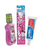 Children's Dental Care Bundle: Hello Kitty Mouthwash, Crest Toothpaste and Hello Kitty Toothbrush with Free Hello Kitty Tote