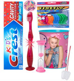 Jojo Siwa Just Dance Inspired Girl's 4pcs Bright Smile Oral Set! Toothpaste, Flashing Light Toothbrush, Timer & Cup! Plus Bonus Tooth Necklace!