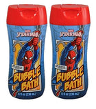 Marvel Comics Spiderman Web Clinging Watermelon Scent Bubble Bath bundle of 2