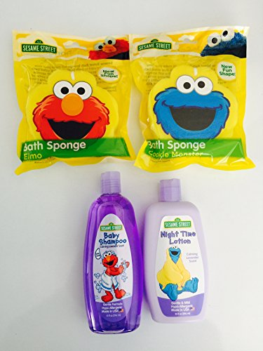 Sesame Street Night Time Baby Bath 4 Piece Set