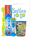 Animal Jam Inspired 4pc Bright Smile Hygiene Bundle! Light Up Toothbrush, Toothpaste, Timer & Rinse Cup! Plus Bonus Tooth Necklace
