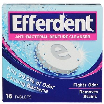 Effederdent Anti-bacterial Denture Cleanser 16 Tablets each (2 boxes)