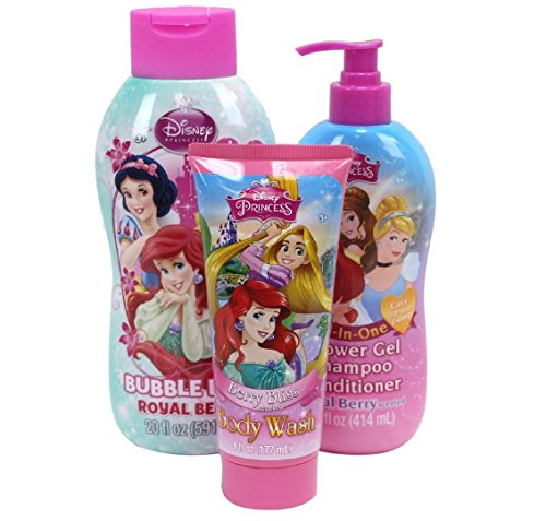 Disney Princess Bath Set 3pcs Bundle
