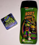 Teenage Mutant Ninja Turtles 8 fl oz. Mutant Mango Scented Body Wash And Magic Washcloth Bundle TMNT