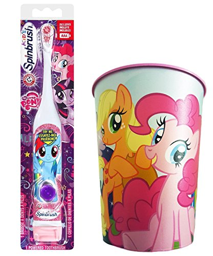My Little Pony Rainbow Dash Toothbrush Bundle: 2 Items - Spinbrush Toothbrush, My Little Pony Kids Rinse Cup