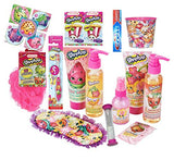 Shopkins Spa Set & Oral Hygiene Bundle: Lotion, Body Wash, Body Mist, Toothbrush, Toothpaste, Bandage, Sponge, Timer, Eye Mask, Tissue & Rinse Cup