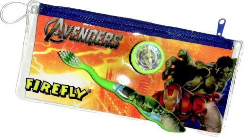 Marvel Avengers Travel Toothbrush Cap in Zippered Case by Dr. Fresh