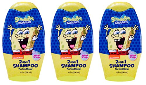 SpongeBob Square Pants 2 in 1 Shampoo Plus Conditioner 10 fl oz each pack of 3