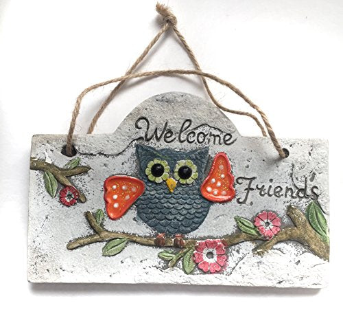 Rustic Owl Theme Hanging Garden Signs